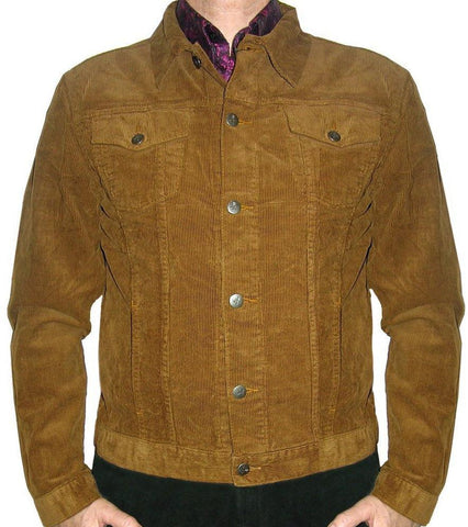 Corduroy Jacket Classic 60's Style Tan