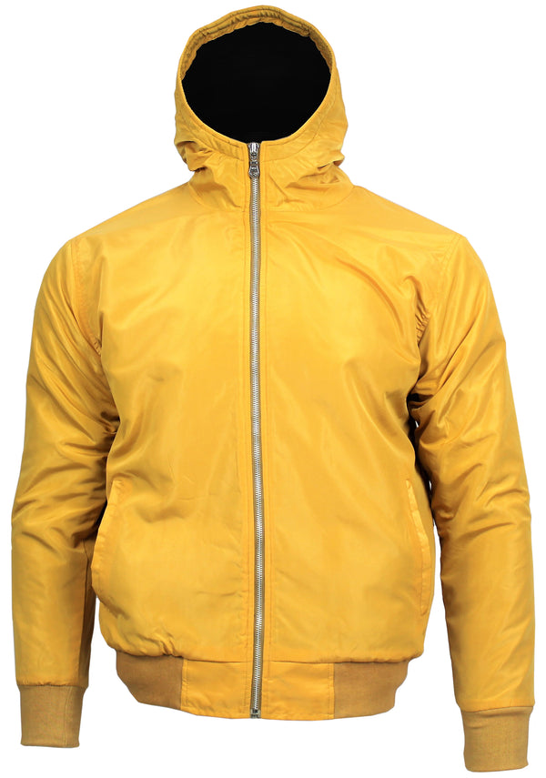 Polar Quilted Splash Proof Hooded Jacket Sunflower - Real Hoxton