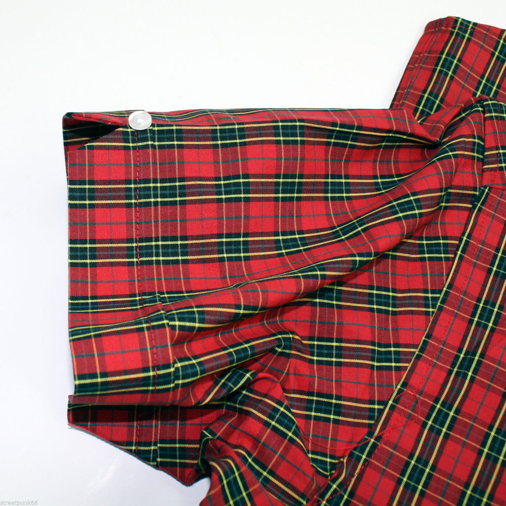 Shirt Check Men's Red Tartan Short Sleeve - CXLondon.Com