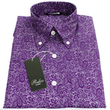 Shirt Paisley Men's Purple Classic Mod Vintage - CXLondon.Com