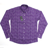 Shirt Paisley Men's Purple Classic Mod