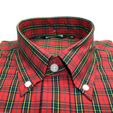 Shirt Check Men's Red Tartan Short Sleeve
