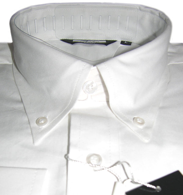 Relco Black Oxford Cotton Long Sleeved Retro Mod Button Down Shirts
