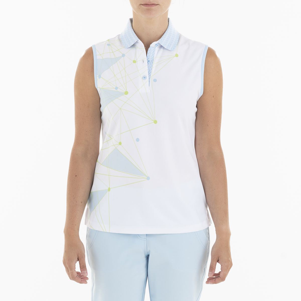 GENNA POLO GOLF 100 WHITE XS GELATO