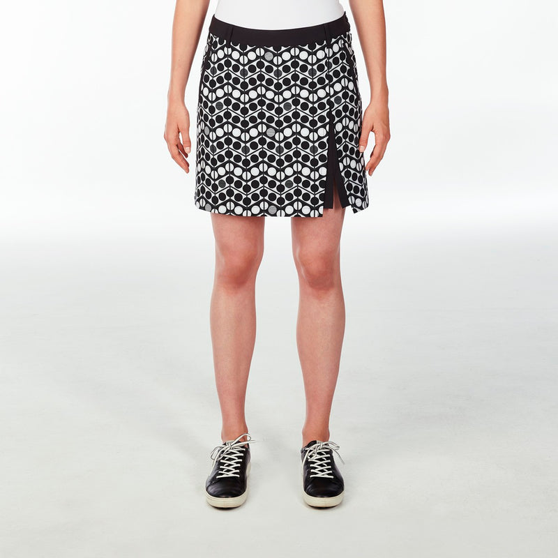 WINNIE SKORT GOLF 001 BLACK 16 WAVES