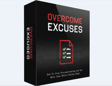 Load image into Gallery viewer, Overcome Excuses - How To Stop Procrastinating And Get More Done While Staying Happy - SelfhelpFitness