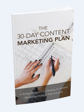 Load image into Gallery viewer, The 30-Day Content Marketing Plan - A 30 Day Blueprint To Creating A Conent Strategy That Converts - SelfhelpFitness