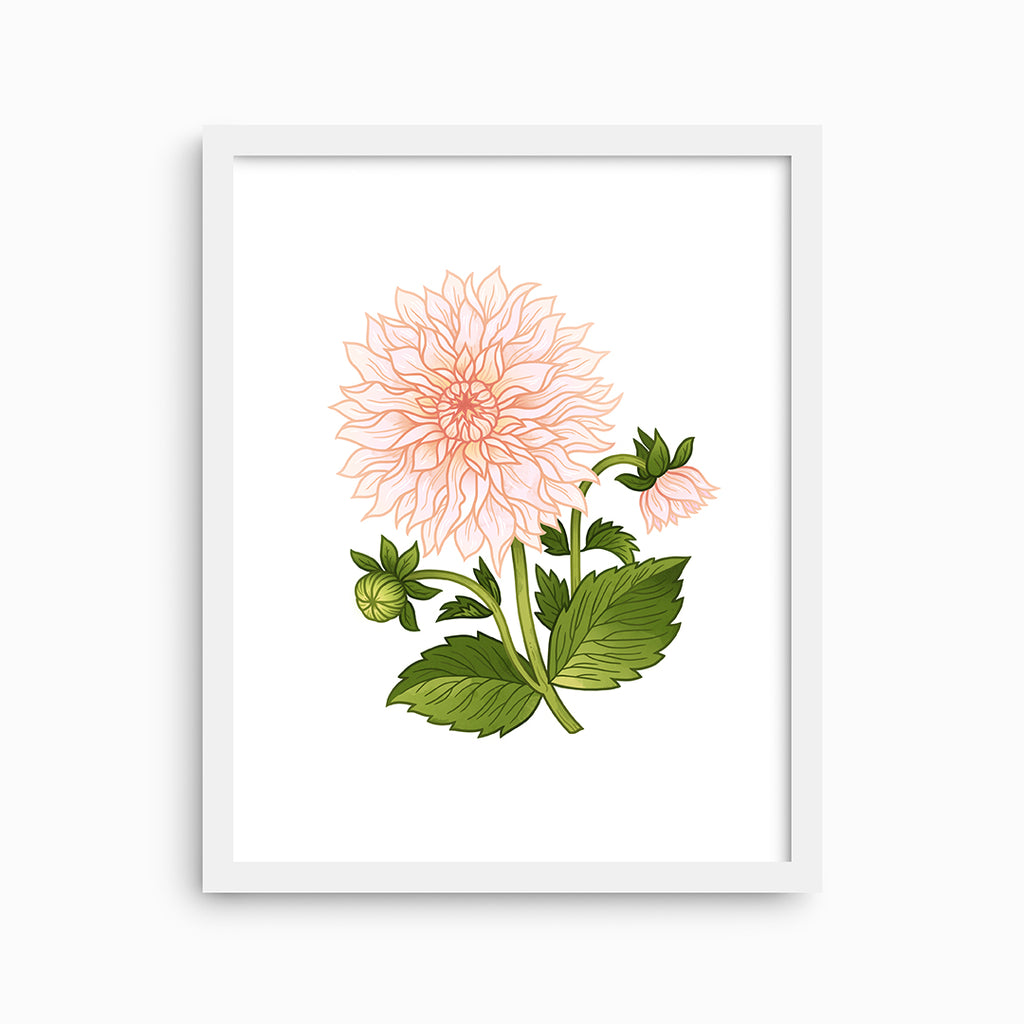 Cafe au Lait Dahlia Art Print - Linden Paper Co. , Art Prints - Stationery Brand, Linden Paper Co. Linden Paper Co., Linden Paper Co.  Linden Paper Co.