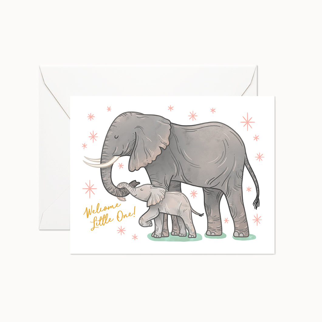 WELCOME LITTLE ONE - Linden Paper Co. , Greeting Card - Stationery Brand, Linden Paper Co. Linden Paper Co., Linden Paper Co.  Linden Paper Co.