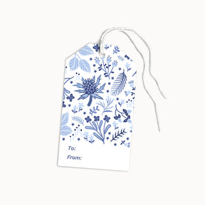 BLUE THISTLE GIFT TAGS - SET OF 8 - Linden Paper Co. , Gift Tags - Stationery Brand, Linden Paper Co. Linden Paper Co., Linden Paper Co.  Linden Paper Co.