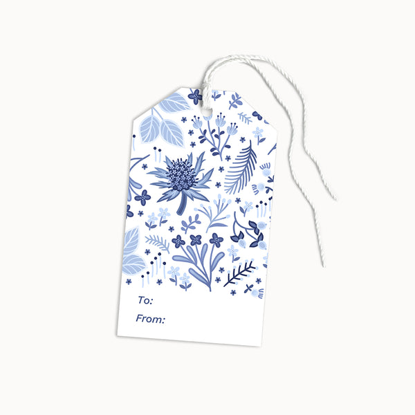 Blue Thistle Gift Tags | Set of 8 - Linden Paper Co. , Gift Tags - Stationery Brand, Linden Paper Co. Linden Paper Co., Linden Paper Co.  Linden Paper Co.