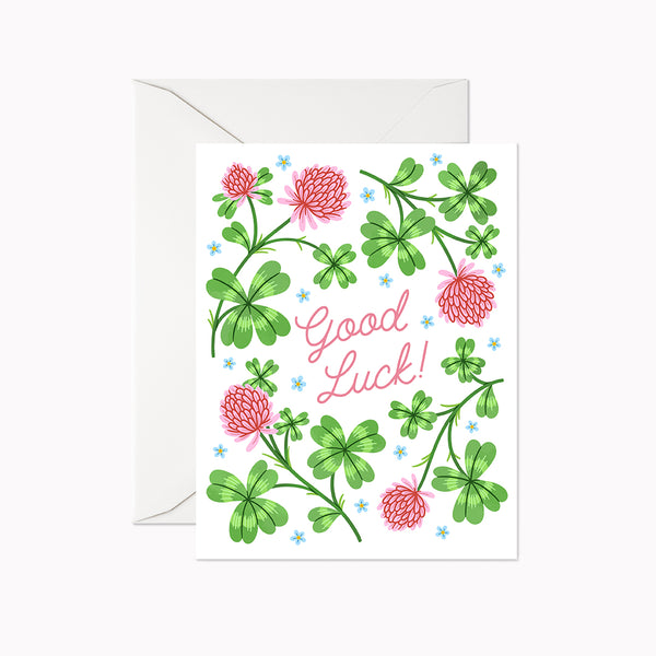 Good Luck Card - Linden Paper Co. , Greeting Card - Stationery Brand, Linden Paper Co. Linden Paper Co., Linden Paper Co.  Linden Paper Co.