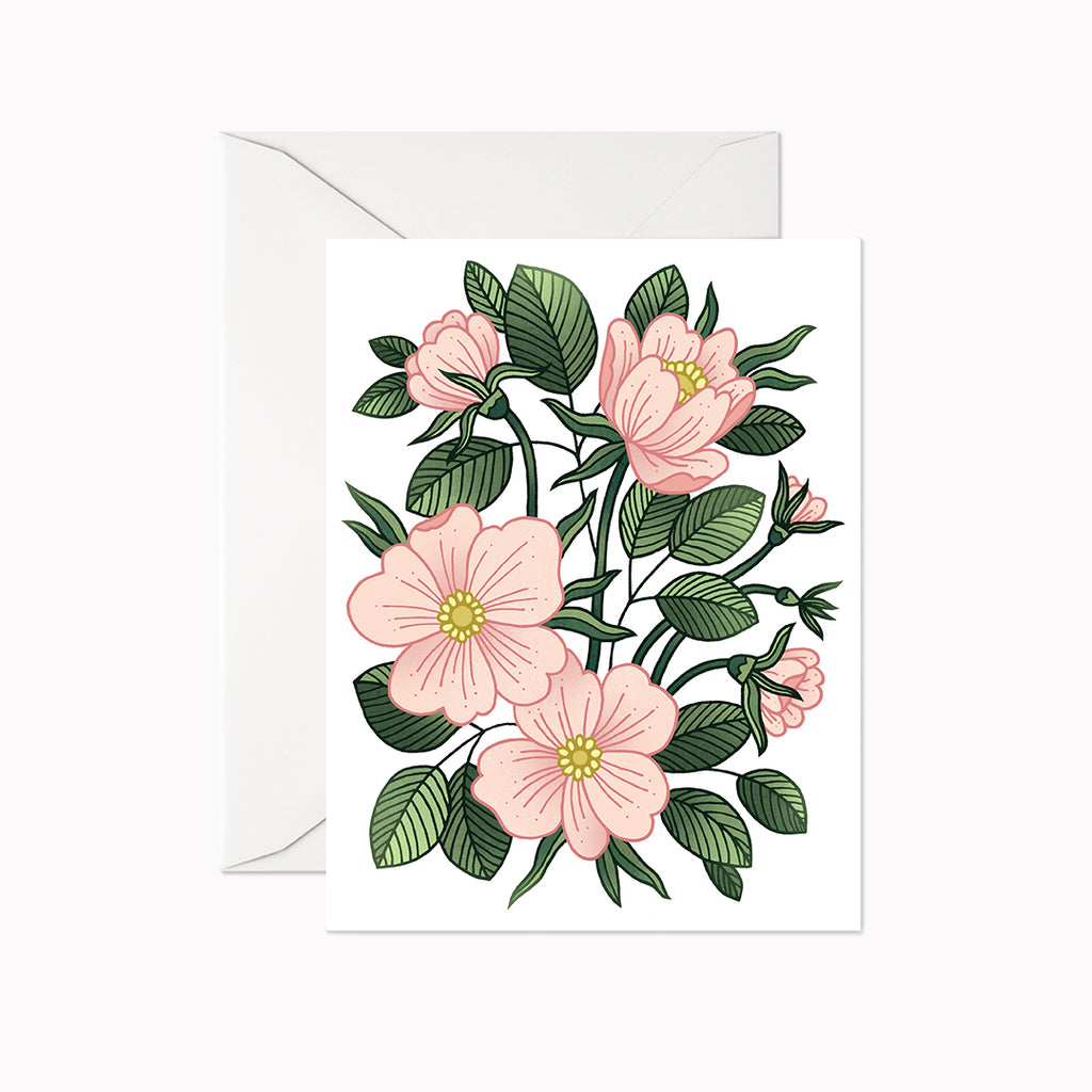 Wild Rose Garden Card - Linden Paper Co. , Greeting Card - Stationery Brand, Linden Paper Co. Linden Paper Co., Linden Paper Co.  Linden Paper Co.