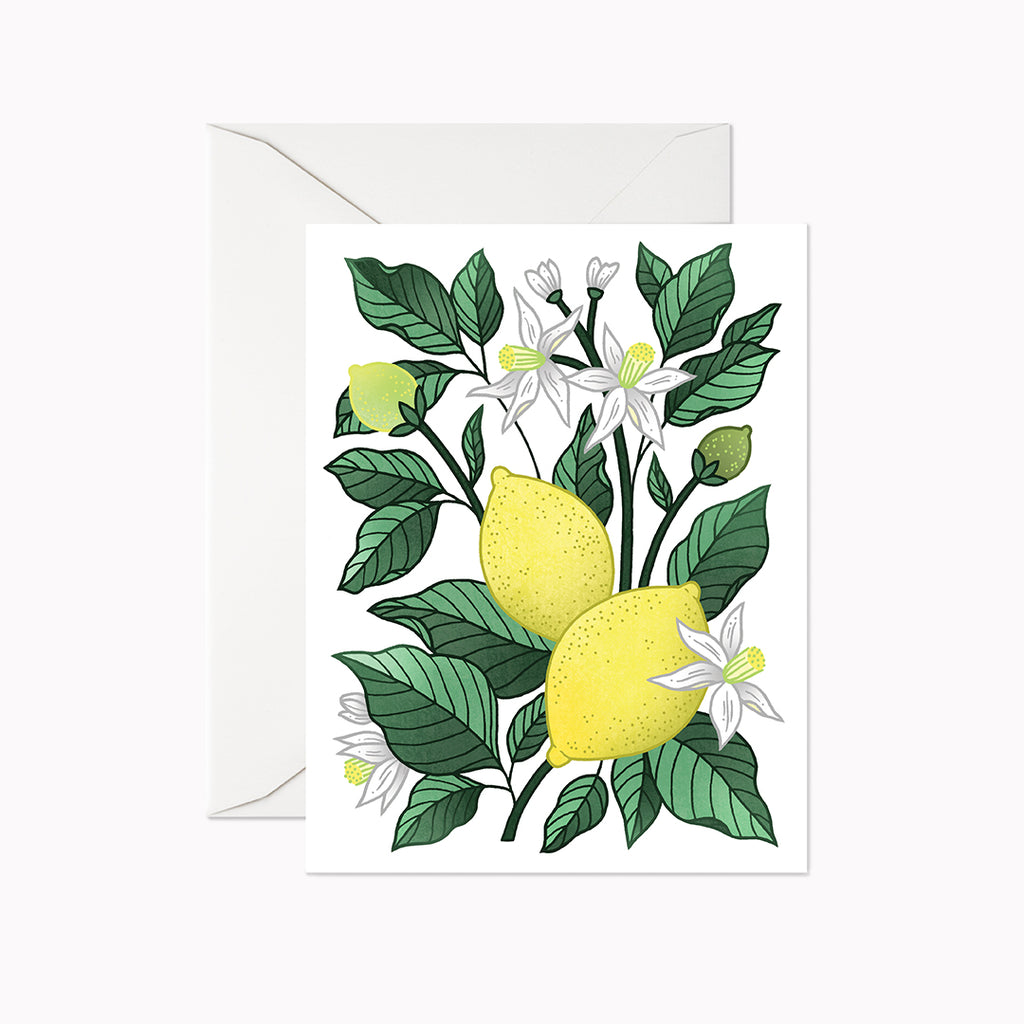 Lemon Delight Card - Linden Paper Co. , Greeting Card - Stationery Brand, Linden Paper Co. Linden Paper Co., Linden Paper Co.  Linden Paper Co.