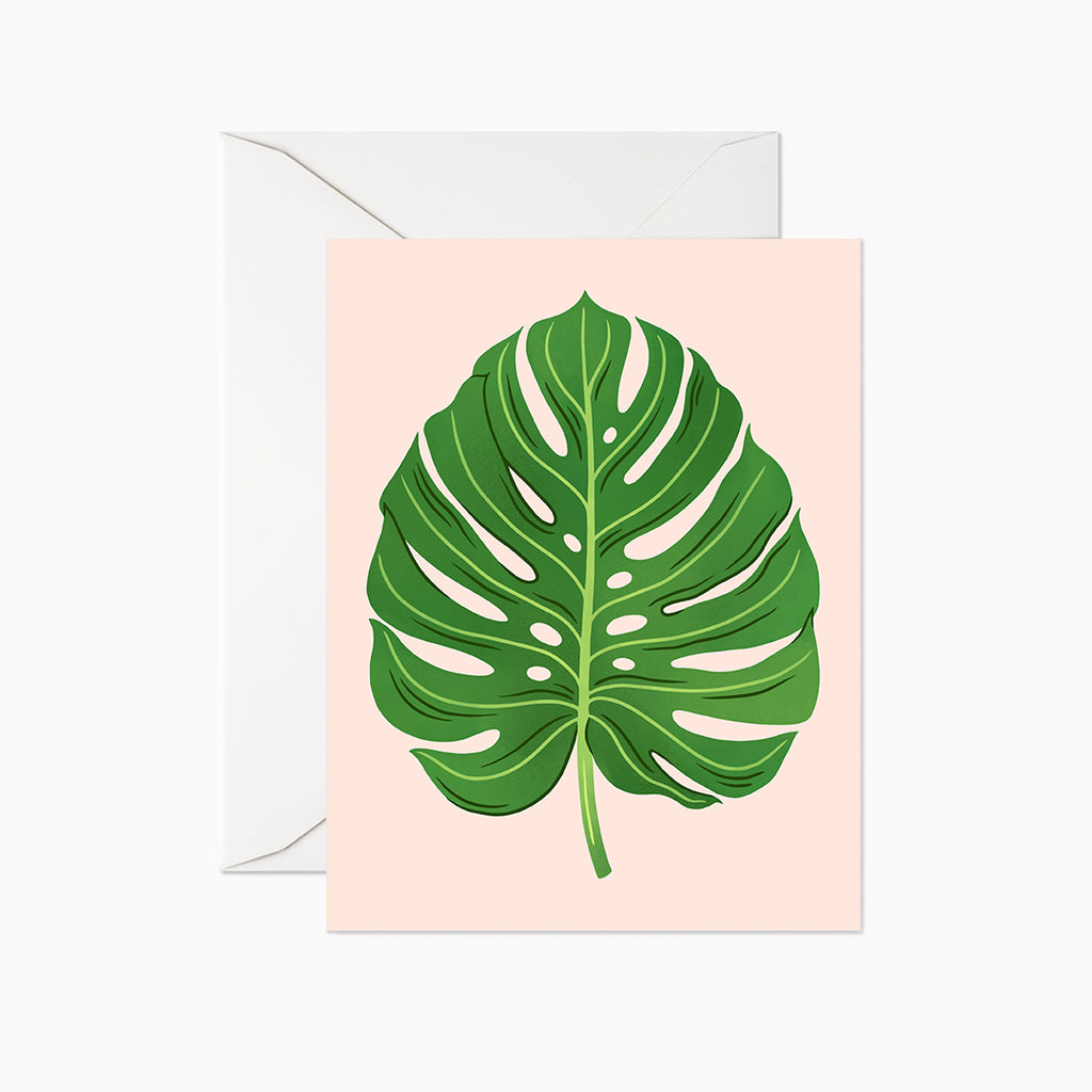 Monstera Card - Linden Paper Co. , Greeting Card - Stationery Brand, Linden Paper Co. Linden Paper Co., Linden Paper Co.  Linden Paper Co.