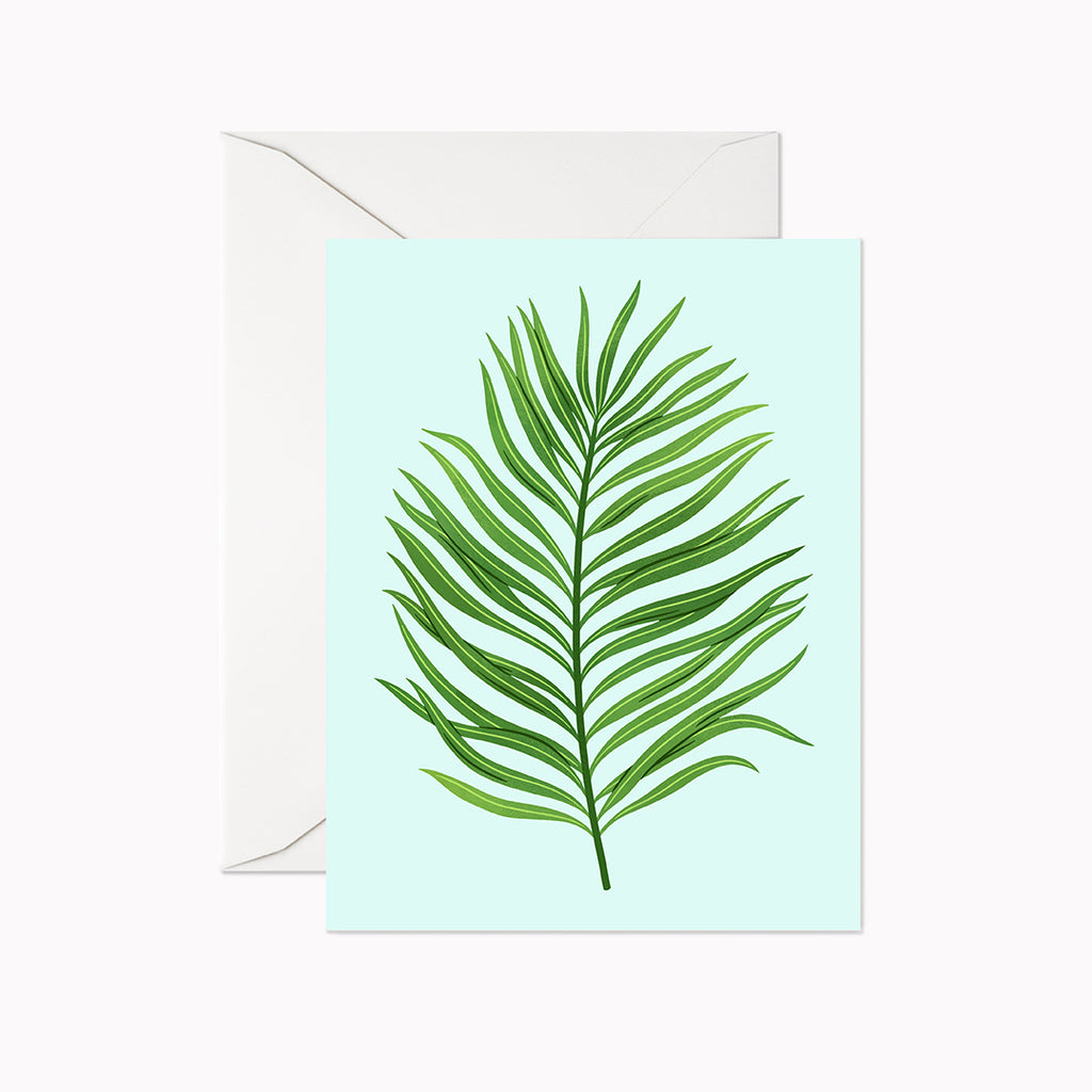 Areca Palm Card - Linden Paper Co. , Greeting Card - Stationery Brand, Linden Paper Co. Linden Paper Co., Linden Paper Co.  Linden Paper Co.