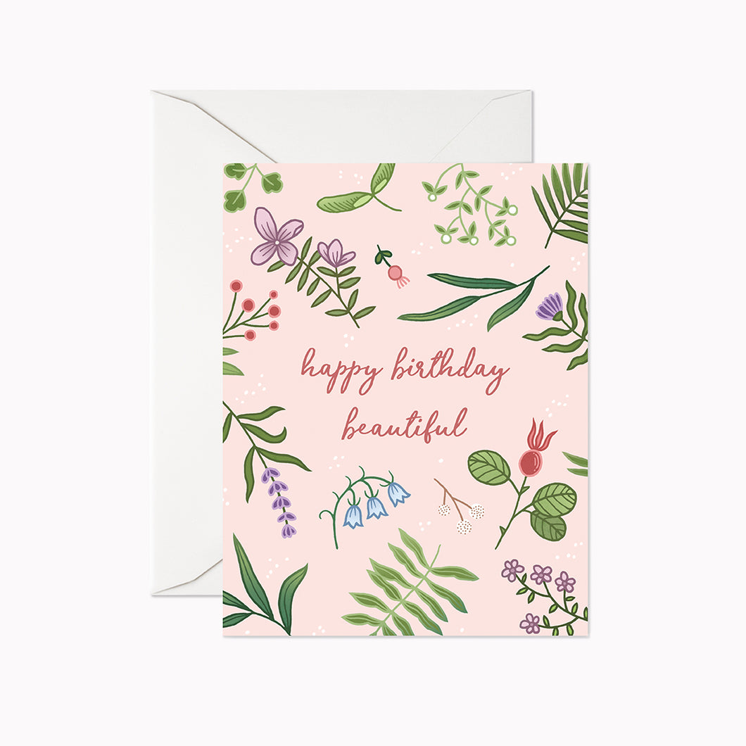 HAPPY BIRTHDAY BEAUTIFUL CARD - Linden Paper Co. , Greeting Card - Stationery Brand, Linden Paper Co.  Linden Paper Co., Linden Paper Co.  Linden Paper Co.