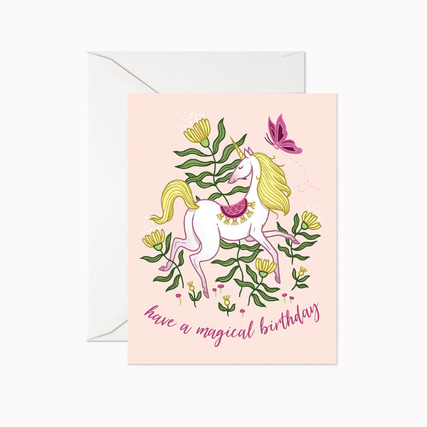 Garden Unicorn Card - Linden Paper Co. , Greeting Card - Stationery Brand, Linden Paper Co.  Linden Paper Co., Linden Paper Co.  Linden Paper Co.