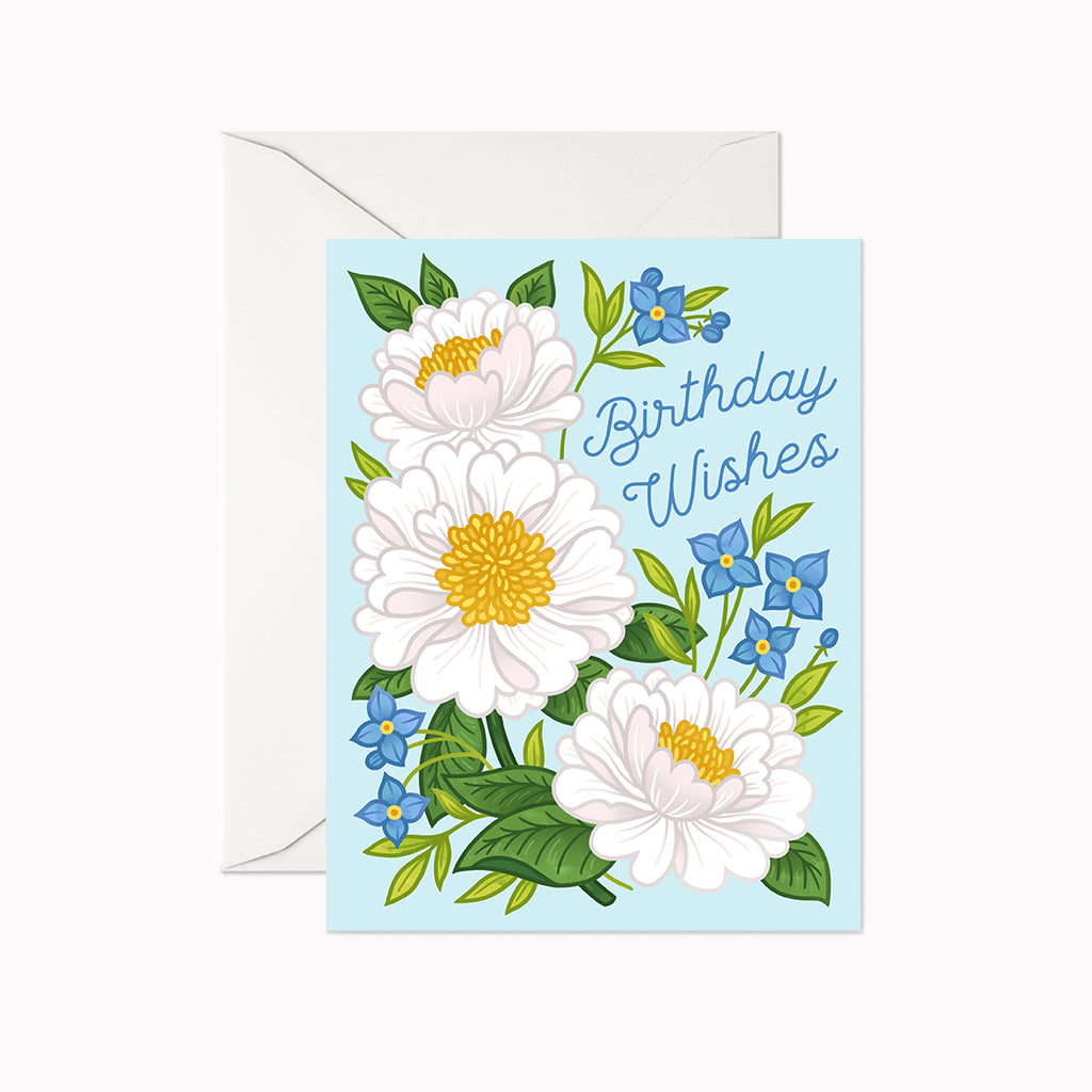 Birthday Wishes Card - Linden Paper Co. , Greeting Card - Stationery Brand, Linden Paper Co. Linden Paper Co., Linden Paper Co.  Linden Paper Co.