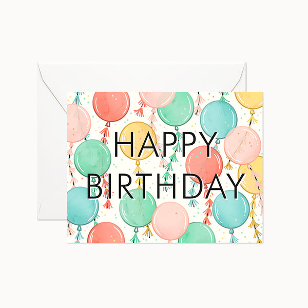 Balloon Birthday Card - Linden Paper Co. , Greeting Card - Stationery Brand, Linden Paper Co. Linden Paper Co., Linden Paper Co.  Linden Paper Co.