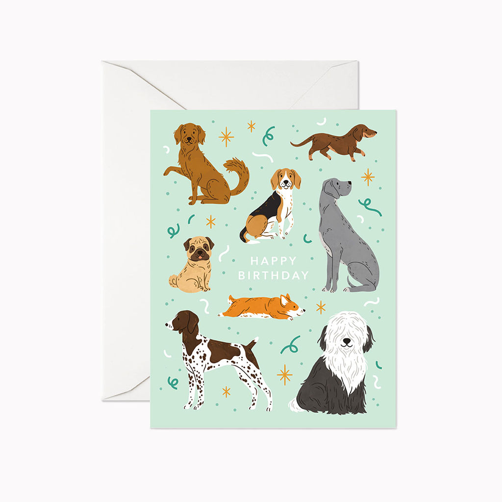 Dog Birthday Card - Linden Paper Co. , Greeting Card - Stationery Brand, Linden Paper Co. Linden Paper Co., Linden Paper Co.  Linden Paper Co.
