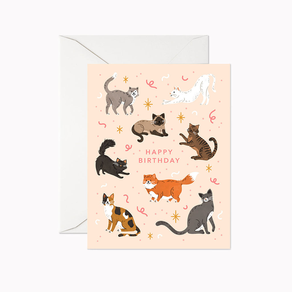 Cat Birthday Card - Linden Paper Co. , Greeting Card - Stationery Brand, Linden Paper Co. Linden Paper Co., Linden Paper Co.  Linden Paper Co.