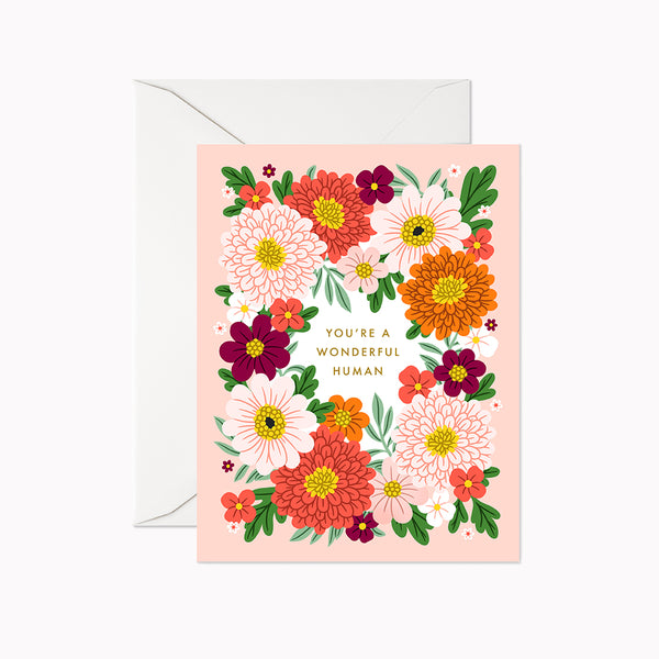 You're a Wonderful Human Card - Linden Paper Co. , Greeting Card - Stationery Brand, Linden Paper Co. Linden Paper Co., Linden Paper Co.  Linden Paper Co.