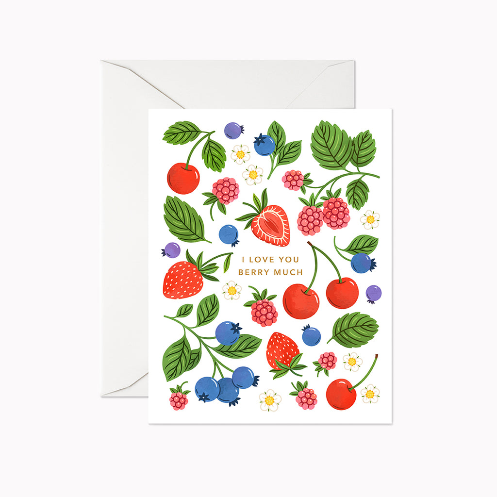 I Love You Berry Much Card - Linden Paper Co. , Greeting Card - Stationery Brand, Linden Paper Co. Linden Paper Co., Linden Paper Co.  Linden Paper Co.