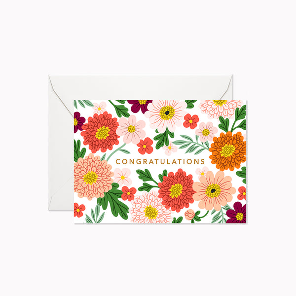 Lively Garden Congratulations | Mini Card - Linden Paper Co. , Greeting Card - Stationery Brand, Linden Paper Co. Linden Paper Co., Linden Paper Co.  Linden Paper Co.