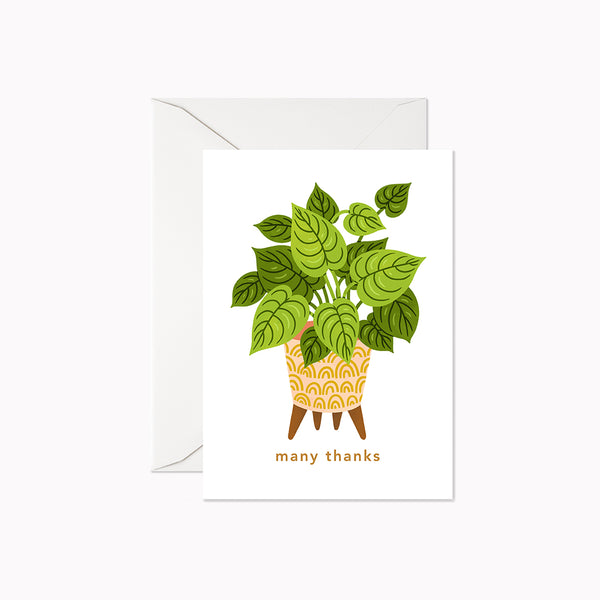 Many Thanks Houseplant | Mini Card - Linden Paper Co. , Greeting Card - Stationery Brand, Linden Paper Co. Linden Paper Co., Linden Paper Co.  Linden Paper Co.
