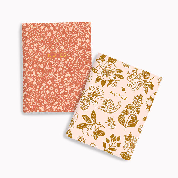 Pink Meadows + Golden Woods Pocket Notes - Linden Paper Co. , Pocket Notes - Stationery Brand, Linden Paper Co. Linden Paper Co., Linden Paper Co.  Linden Paper Co.