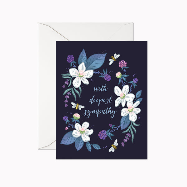 With Deepest Sympathy Card - Linden Paper Co. , Greeting Card - Stationery Brand, Linden Paper Co. Linden Paper Co., Linden Paper Co.  Linden Paper Co.