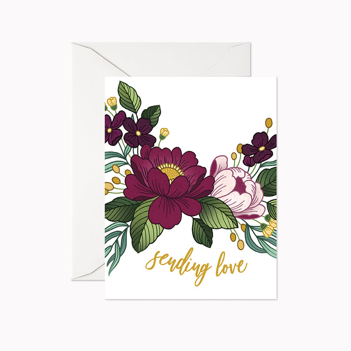 SENDING LOVE CARD - Linden Paper Co. , Greeting Card - Stationery Brand, Linden Paper Co. Linden Paper Co., Linden Paper Co.  Linden Paper Co.