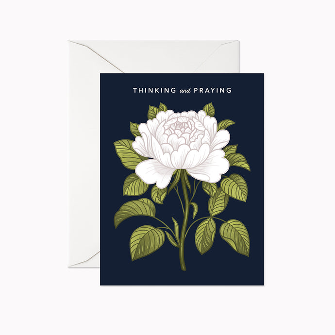 THINKING AND PRAYING - Linden Paper Co. , Greeting Card - Stationery Brand, Linden Paper Co. Linden Paper Co., Linden Paper Co.  Linden Paper Co.