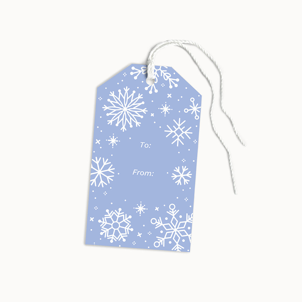 Snowflakes Gift Tags | Set of 8 - Linden Paper Co. , Gift Tags - Stationery Brand, Linden Paper Co. Linden Paper Co., Linden Paper Co.  Linden Paper Co.