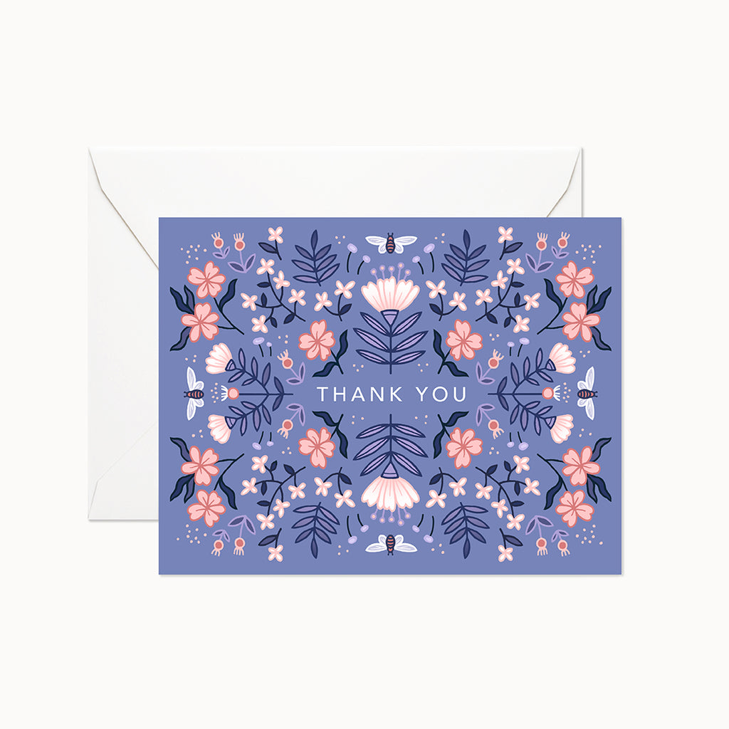 Blue Garden Card - Linden Paper Co. , Greeting Card - Stationery Brand, Linden Paper Co. Linden Paper Co., Linden Paper Co.  Linden Paper Co.