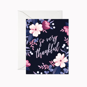 SO VERY THANKFUL CARD - Linden Paper Co. , Greeting Card - Stationery Brand, Linden Paper Co. Linden Paper Co., Linden Paper Co.  Linden Paper Co.