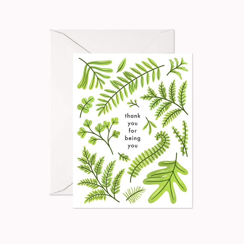 Thank You For Being You Card - Linden Paper Co. , Greeting Card - Stationery Brand, Linden Paper Co. Linden Paper Co., Linden Paper Co.  Linden Paper Co.