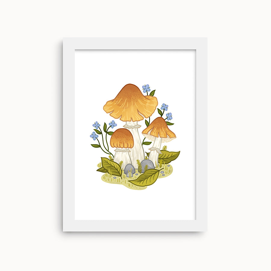 Gypsy Mushrooms | Mini Art Prints - Linden Paper Co. , Art Prints - Stationery Brand, Linden Paper Co. Linden Paper Co., Linden Paper Co.  Linden Paper Co.