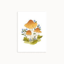 Load image into Gallery viewer, GYPSY MUSHROOMS | MINI ART PRINT - Linden Paper Co. , Art Prints - Stationery Brand, Linden Paper Co. Linden Paper Co., Linden Paper Co.  Linden Paper Co.
