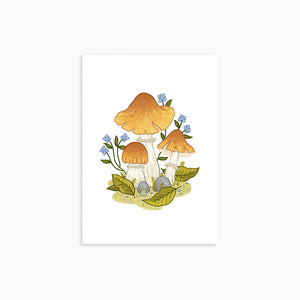 GYPSY MUSHROOMS | MINI ART PRINT - Linden Paper Co. , Art Prints - Stationery Brand, Linden Paper Co. Linden Paper Co., Linden Paper Co.  Linden Paper Co.