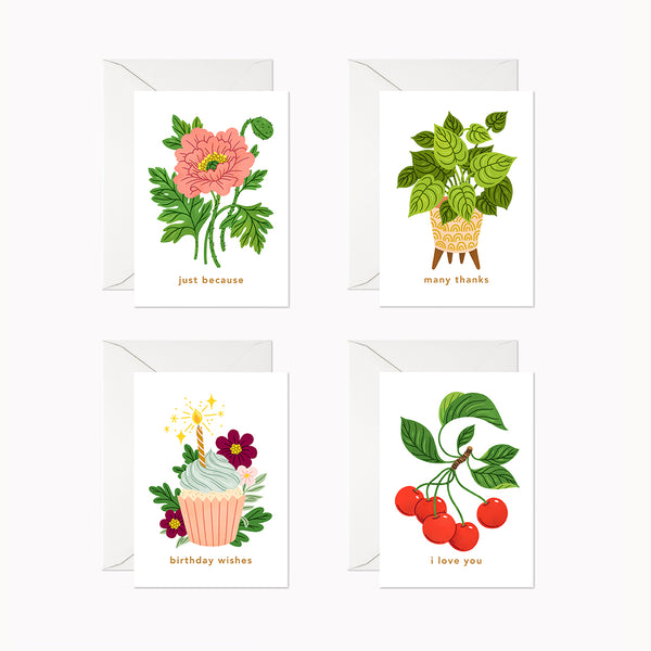 Mini Cards | Assorted Set - Linden Paper Co. , Greeting Card - Stationery Brand, Linden Paper Co. Linden Paper Co., Linden Paper Co.  Linden Paper Co.