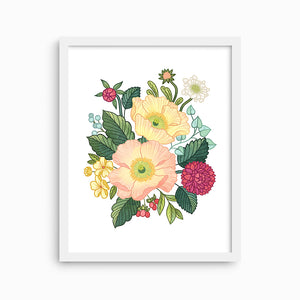 POPPY FLORAL ART PRINT - Linden Paper Co. , Art Prints - Stationery Brand, Linden Paper Co. Linden Paper Co., Linden Paper Co.  Linden Paper Co.