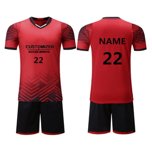 Kids Soccer Jerseys Sets Survetement Sport Kit Child Youth Training Suit Football  Uniforms Shorts Shirts Custom Print Name Logo c35bc754a