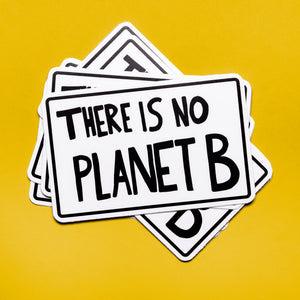 There is no Planet B protest poster - vinyl sticker