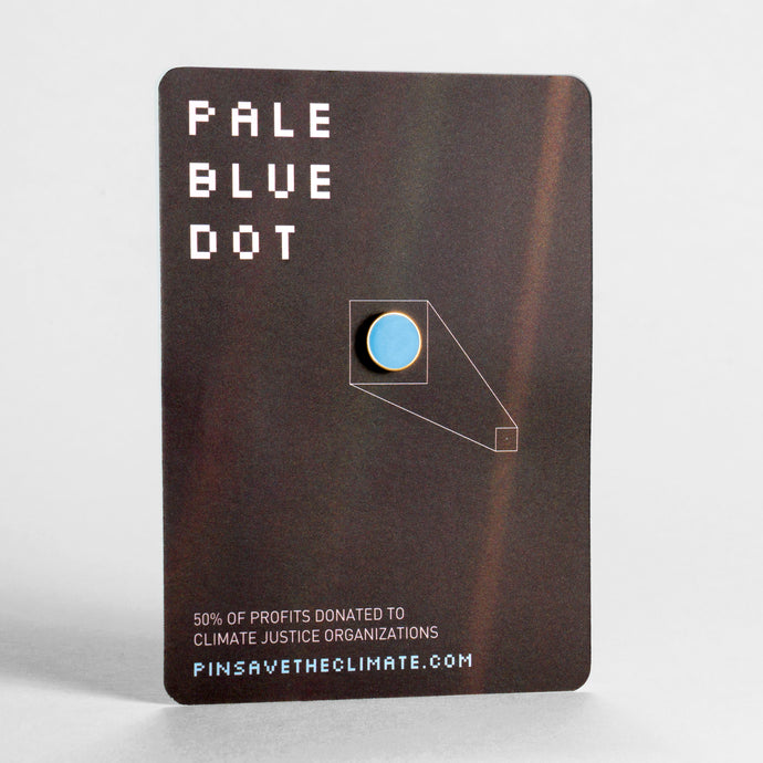 Pale Blue Dot pin - 24k Gold Plated (30th Anniversary Edition)