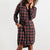 Bridge & Burn Emery Navy Rust Gingham Dress