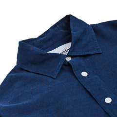 Corridor Indigo Herringbone Red Dot Shirt