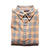 Normal Brand Two Tone Check Button Down Coral