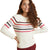 Marine Layer Delaney Raglan Sweater Cream/Multi Stripe